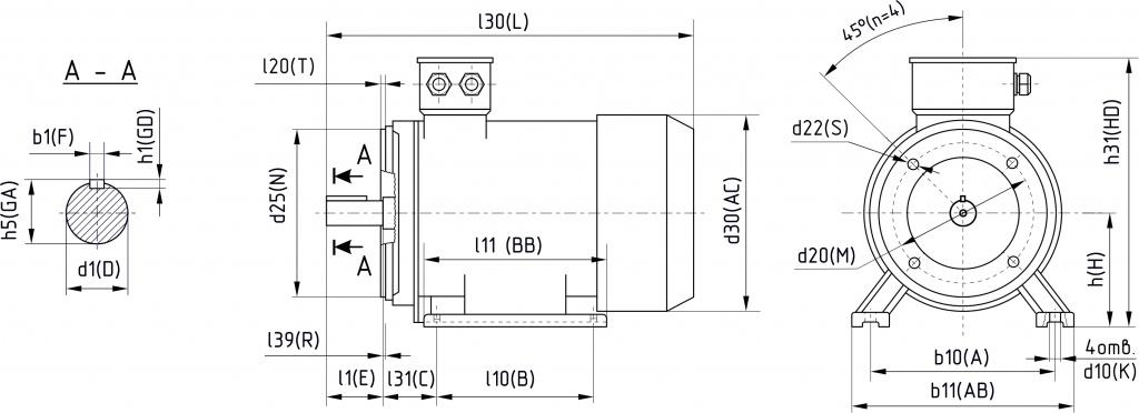 Конструктивное исполнение IM2181, IM3681