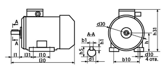 Лапы взрывозащищенного электродвигателя