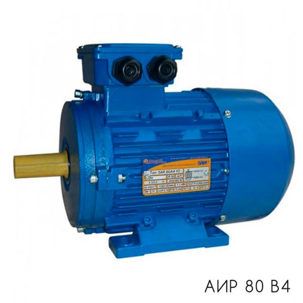 общепромышленный электродвигатель АИР 80 В4